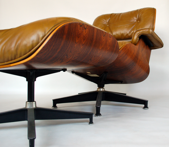 BEFORE AFTER Eames Lounge Restoration Original Ochre Modern Conscience