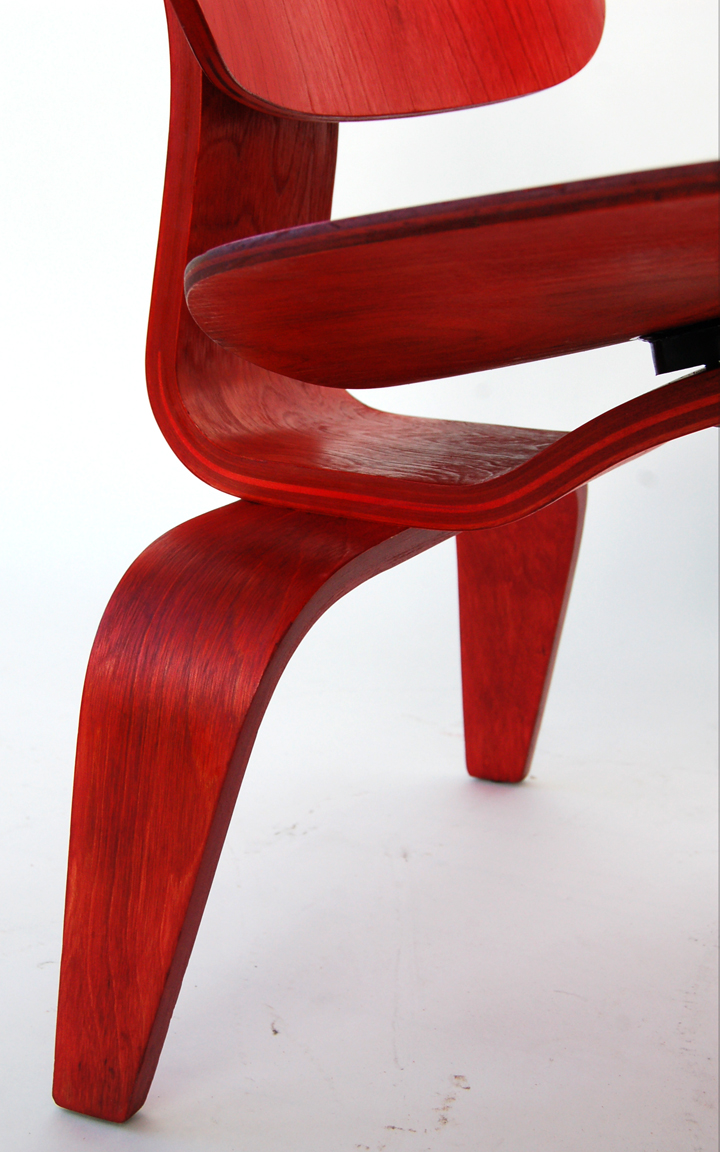 Bent plywood chair eames - Photo By Modern Conscience Red Aniline Lcw Trio After