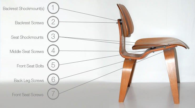 Eames Wood Dining Chair and Lounge Chair