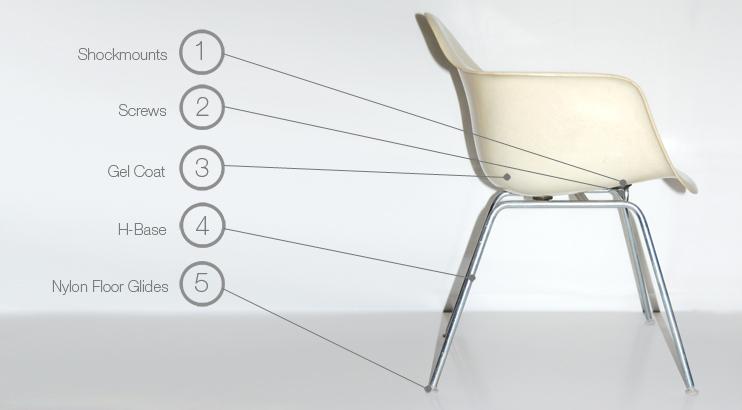 eames h base chair dax dsx max msx lax lsx parts