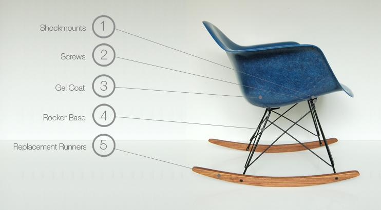 Eames Rocking Chair : Eames rocker rocking chair rar rsr parts