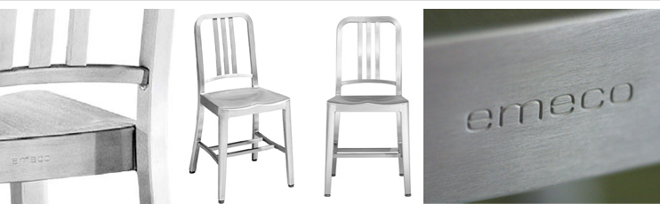 Brushed Aluminum Brushed Aluminum Chair by